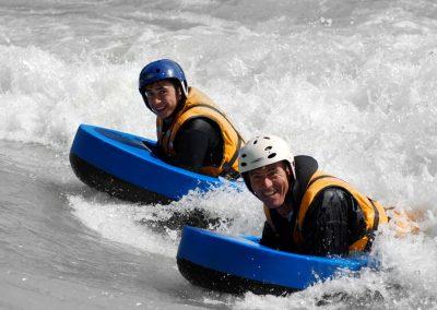 Flotteur mousse Splash Hydrospeed nage en eau vive en situation ©lavaguerafting 1