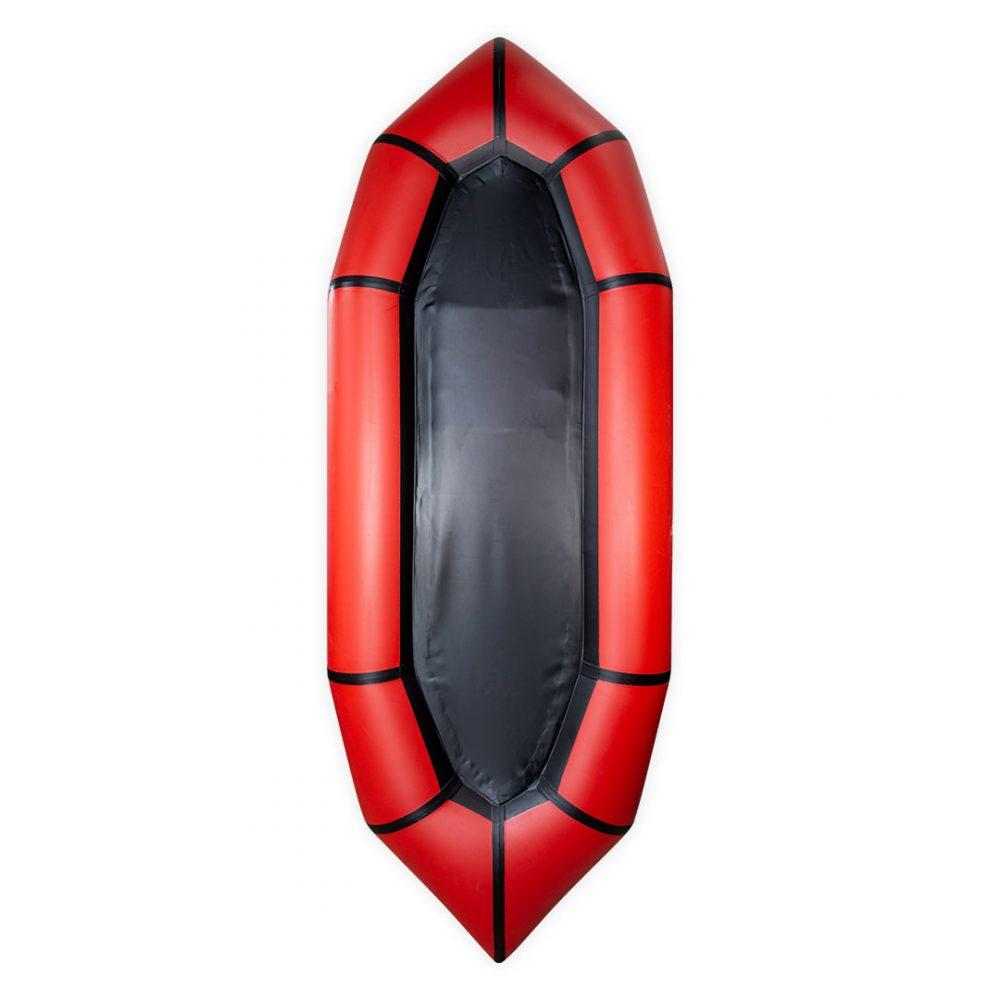Packraft PVC Aquadesign light red back view