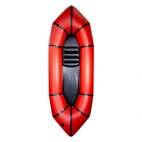 Packraft PVC Aquadesign léger rouge vue de face