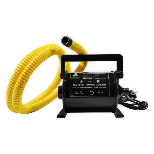 Electric inflator for inflatable canoe kayak or tent mattress MB 800/230 Aquadesign on mains supply.