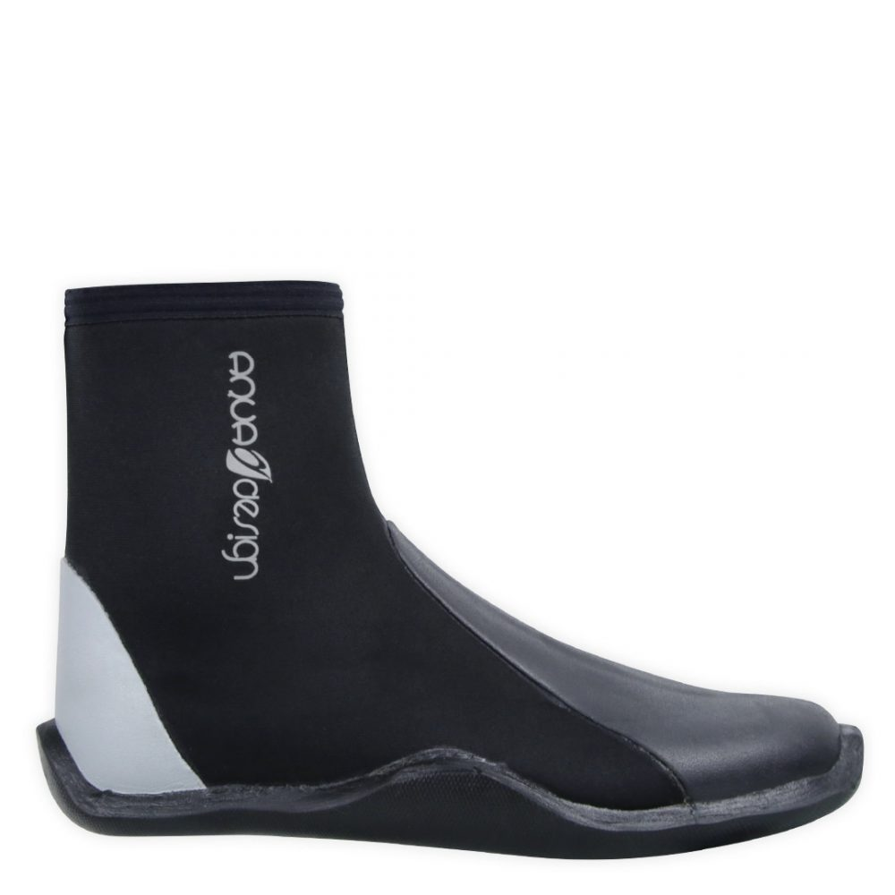Alpine Neoprene 5 mm boots with ZIP for rafting, kayaking, canyoning, white water swimming. Side view
