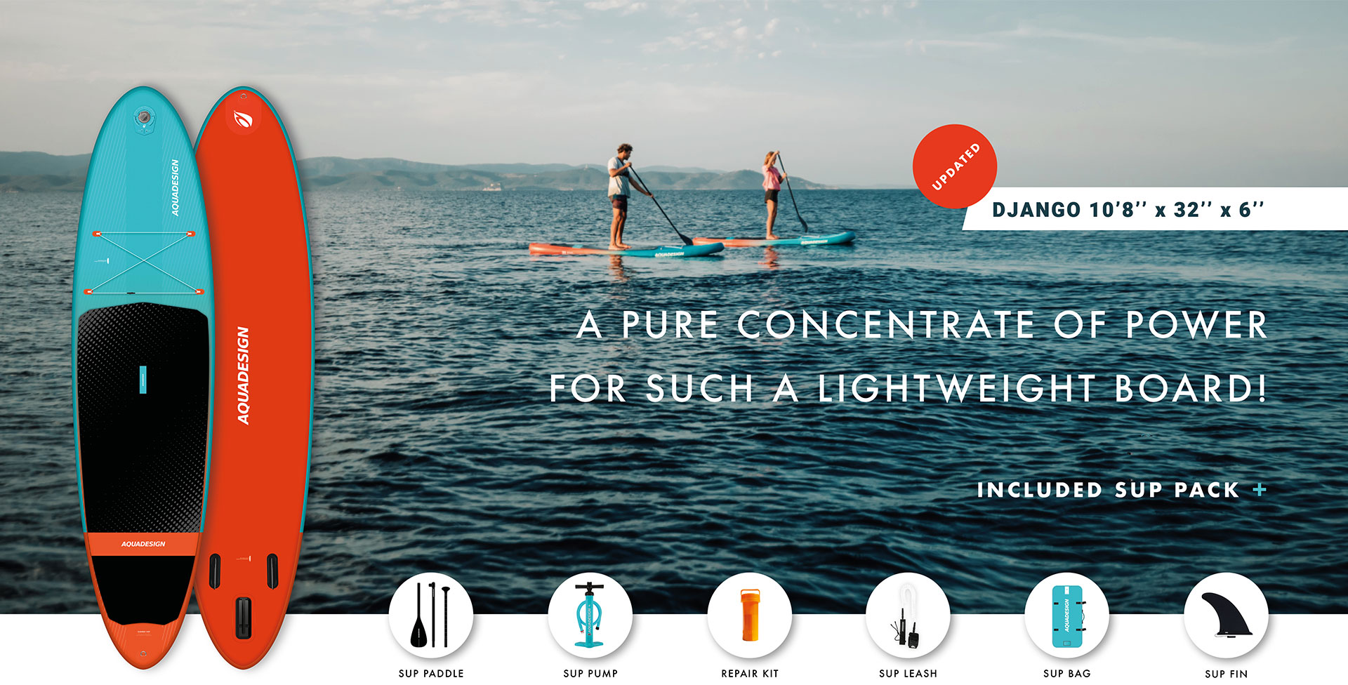 Nouveau Stand Up Paddle Board Aquadesign Django