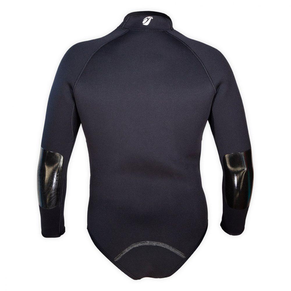 Boléro néoprène 5mm Frio Aquadesign noir avec renforts et sous cutale vue de dos