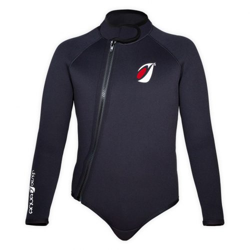 Bolero neoprene 5mm Frio Aquadesign black with reinforcements and underskin front view size M