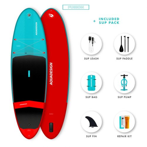 SUP Gonflable Kendo Aquadesign - Technologie Fusion Dropstitch vitesse et stabilité- Pack complet web spécial Stand Up Paddle Board.
