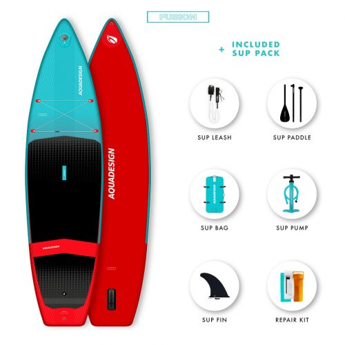 SUP Gonflable Arko Aquadesign - Technologie Fusion Dropstitch vitesse et stabilité- Pack complet web spécial Stand Up Paddle Board.